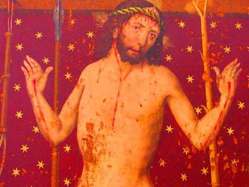 eindringliches Bildtafel - Jesus mit seinen Wundmalen