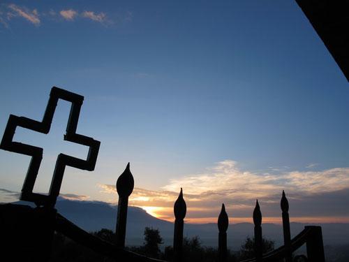 am nächsten Morgen - Sonnenaufgang am Berg Olymp 2.743 m