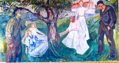bedeutendes Munch-Bild im grossen Sitzungssaal des Rathauses