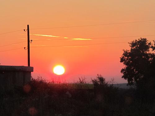Sonnenuntergang in Slivnica, von unserem WoMo aus beobachtet...
