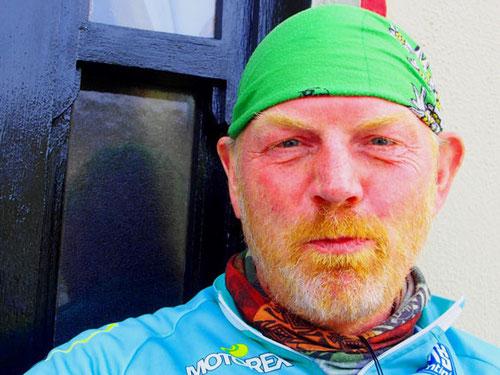 Johann machte gerade Pause, er war schon 2 Wochen mit dem Bike unterwegs