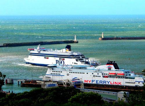 reger Fährverkehr zwischen dem Kontinent und England