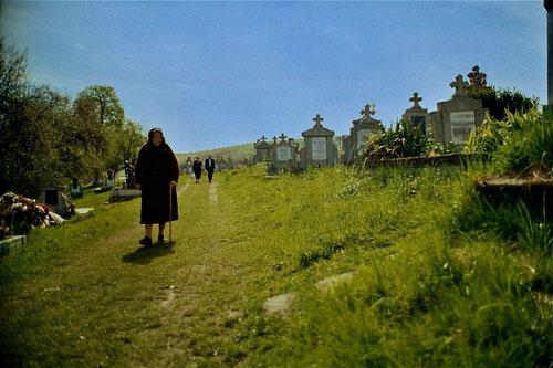 der gepflegte Friedhof von Hermannstadt - Begegnungs-Stätte der Generationen