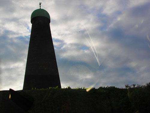 Ziegelturm der Guinness-Brauerei - erbaut 1749 - im Morgenlicht - wichtigstes Wahrzeichen von Dublin
