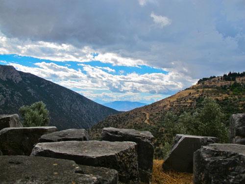 Blick aus dem Delphi-Tal in Richtung Westen
