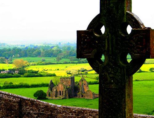 Blick auf das ausserhalb liegende Frauen-Kloster