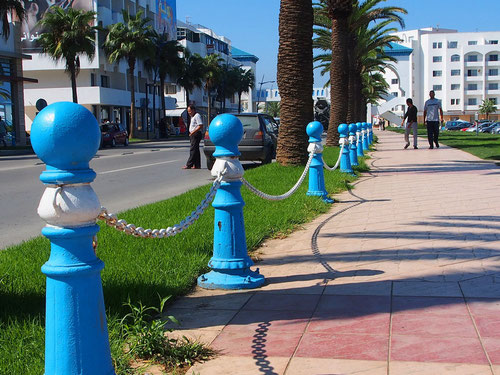 die Strandpromenade in Marokko