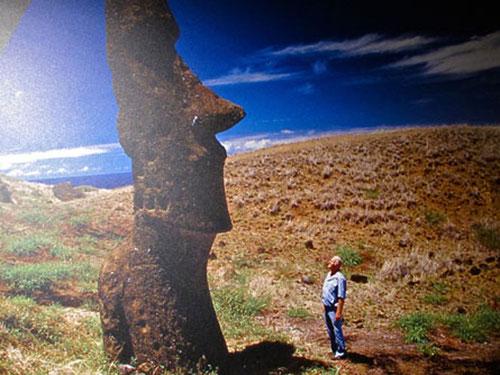 Thor Heyerdahl auf den Osterinseln