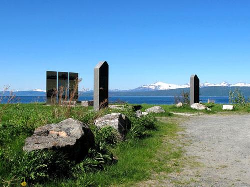 Denkmal des Widerstand am Fjord von Narvik