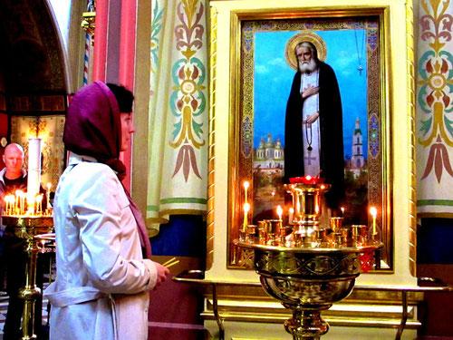 ein Ort des Gebets für die verbliebene russische Bevölkerung