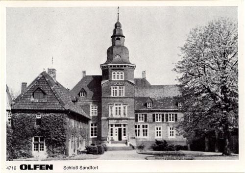 Postkarte Schloss Sandfort