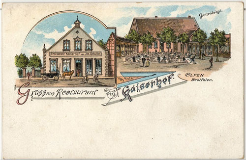 Postkarte Restaurant Kaiserhof