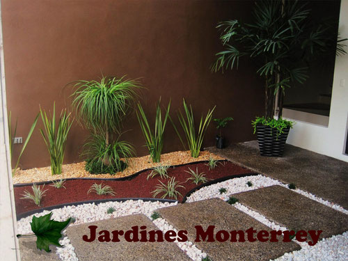 Dise o y construccion de jardines jardines monterrey for Disenos de jardines con piedras