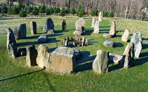 The Stone Circle at Distant Hill Gardens in Walpole, New Hampshire.