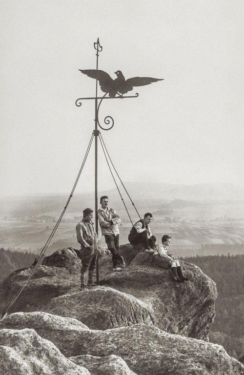 Gipfelzeichen auf dem Falkenstein, Foto: Otto Fleischmann