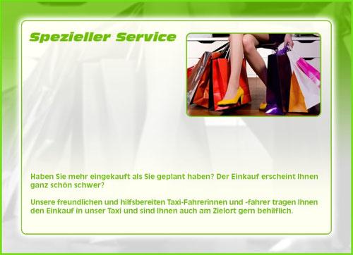 Einkaufs Hilfe und Transport