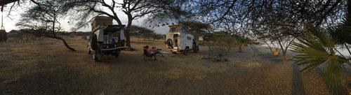 Unser Camp im Lake Lagana.