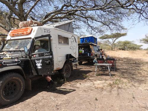 Unser Camp Serengeti NP (hinter dem Nabi Hill)