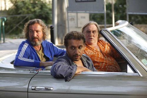 Les rois de la pétanque: Bruno Lochet, Atmen Kelif, Gérard Depardieu (©Roger Arpajou/EuropaCorp)