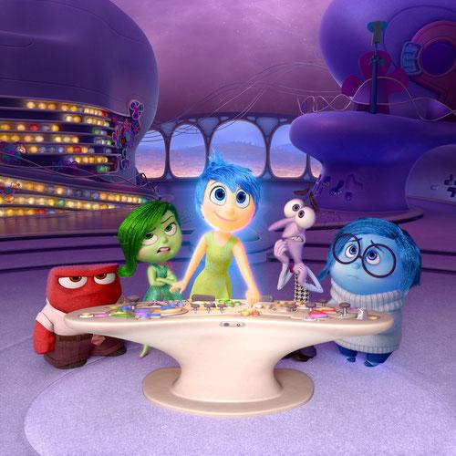 Colère, Dégoût, Joie, Peur, Tristesse (de g. à dr.): que d'émotions! (©The Walt Disney Company)