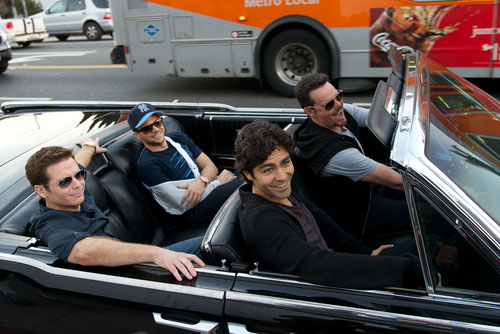 Kevin Connolly, Jerry Ferrara, Adrian Grenier et Kevin Dillon (de g. à dr.): quatre copains à l'assaut d'Hollywood (©Warner Bros).