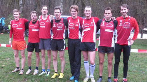Das EM Team v.l.: Marco Giese, Fabian Jenne, Sven Sidenstein, Sven Daub, Nils Schäfer, Christian Biele, Simon Huckestein, Tim Sidenstein