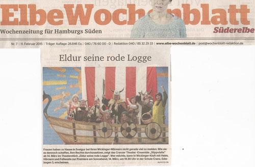 Vielen Dank ElbeWochenblatt für den Abdruck auf der Titelseite! ;)
