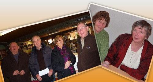 les joyeux instructeurs : Marcel, Joseph, Bernadette, Fernand, Marie et Madeleine
