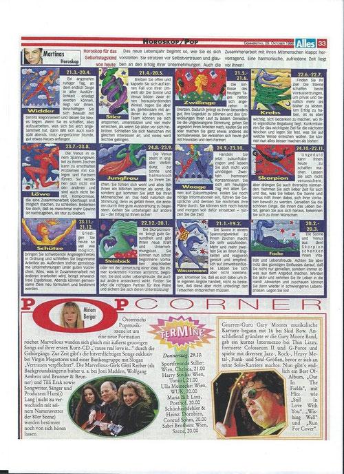 "Hansi & Marvellous - Tilli Erak, Brigitte ""Gitti"" Guggenbichler (Recher) - Täglich Alles 29.10.1998"