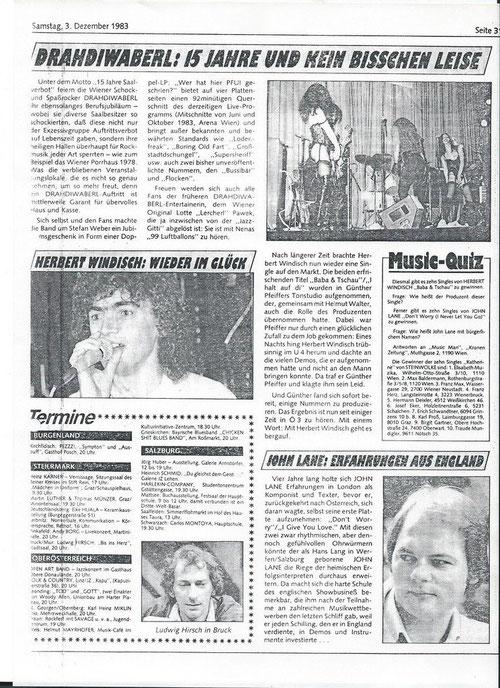 Hansi Georg Lang AKA John Lane - Krone 3.12.1983