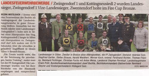 Zeitungsartikel aus NÖN Mistelbach (Woche 27) - NÖ-LFLB 2011 in Krems