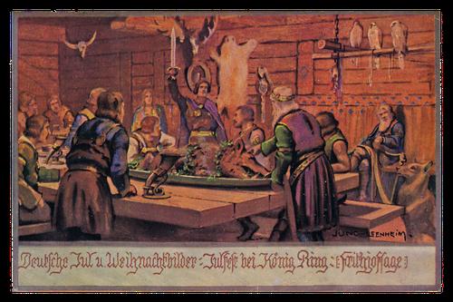Postkarte, 1920er Jahre, mit einem Motiv des österreichischen Malers und Illustrators Franz Jung-Ilsenheim