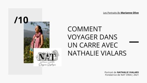 rédaction du portrait de Nathalie Vialars