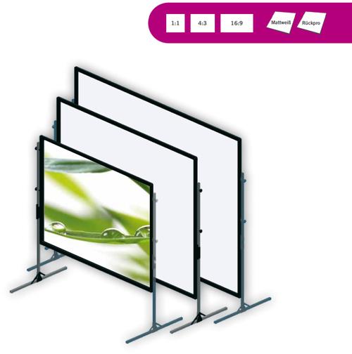 Cinema Fastframe, mobile Rahmenbildwand, in verschiedenen Größen erhältlich