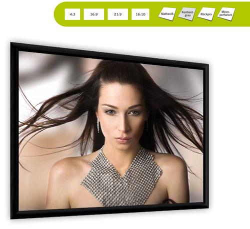 Professional Frame Plano, vielseitige Auswahl an Bildformaten und Projektionstüchern
