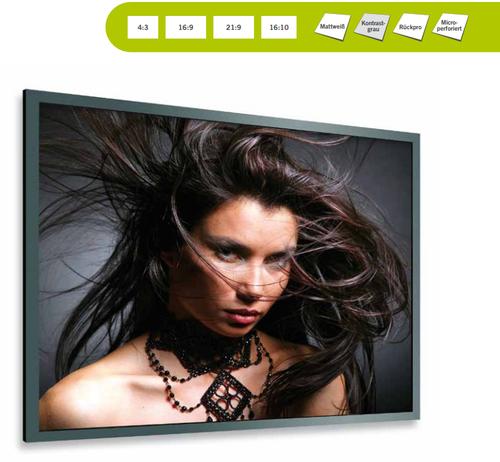 Professional Frame Pro, vielseitige Rahmenbildwand mit Druckknopfsystem, Steckrahmensystem zur Transporterleichterung