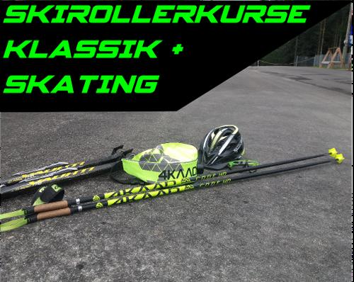 Skirollerkurse Rollskikurs im Schwarzwald Skating und Classic für Anfänger und Fortgeschrittene