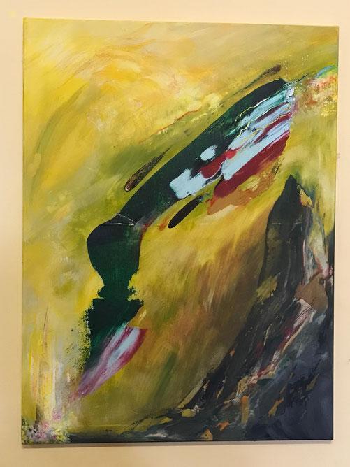 ÖTZI, Acryl auf Leinwand, 60x80 cm