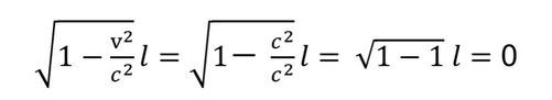 ローレンツ収縮の式