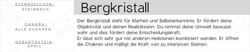 Bergkristall Edelstein Armbänder, Malas und Schmuck - Kollektion