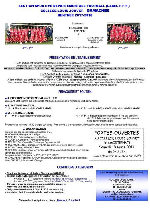 Frédéric CLERCQ ancien joueur du club est professeur de sport au collège de Gamaches