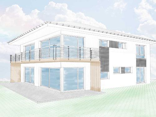 Baumeister Loibenböck Neubau Einfamilienhaus Einreichplanung ÖBA Bauaufsicht