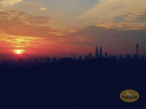 Skyline Kuala Lumpur Sonnenaufgang