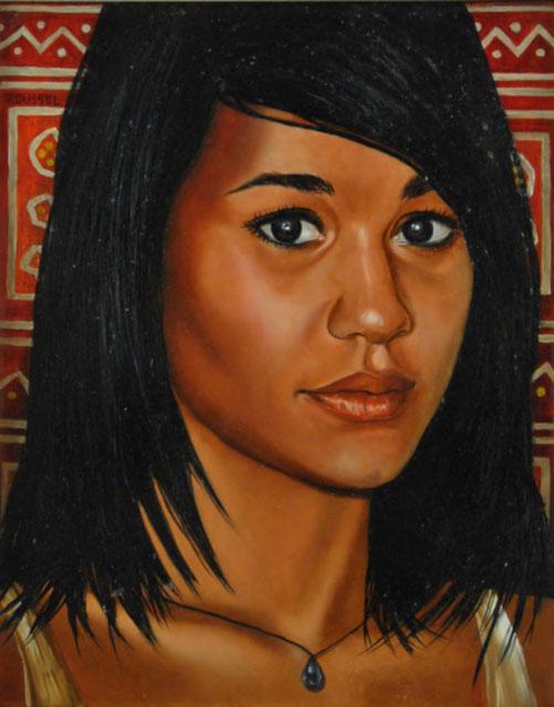 art-peinture-femme-portrait-ethnique