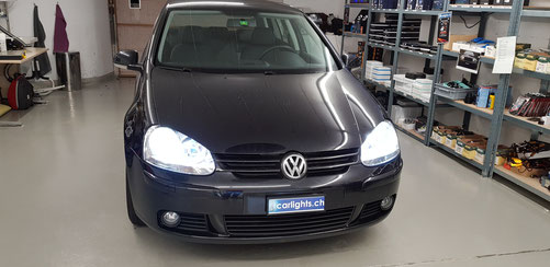 VW Golf 5 LED Umbau H7 LED Philips X-Treme Ultinon