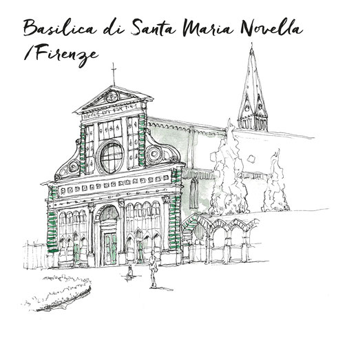 FLORENCE TOSCANE MARCELLOOO.FR BLOG VOYAGE ITALIE BASILICA SANTA MARIA NOVELLA FIRENZE ILLUSTRATION JDAN