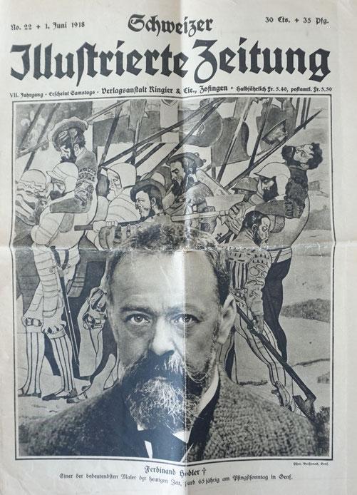 Schweizer Illustrierte Zeitung 1918, Ferdinand Hodler