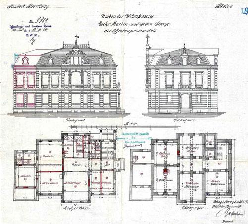 Auf diesem Plan kann man die geplante Nutzung der Räume erkennen.