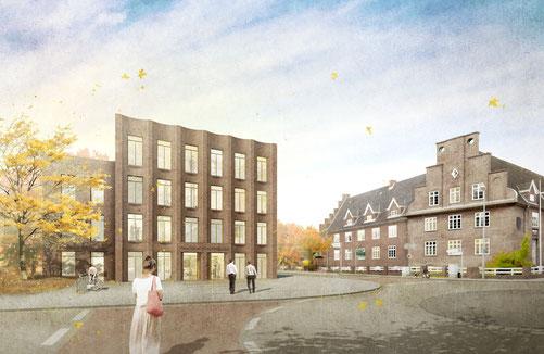 Wettbewerb Neues Finanzamt Nordfriesland Husum 2017 Anerkennung Herr & Schnell Architekten Hamburg