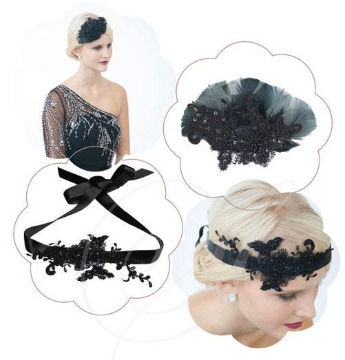 Raffinierte Headpieces aus hochwertigen Stoffen wie reiner Seide, edler Spitze und zartem Seidenorganza.